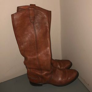 Madewell 1937 brown leather tall boots riding sz 8